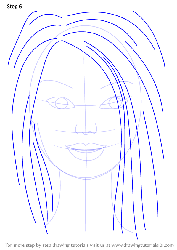 Learn How To Draw Barbie Face Barbie Step By Step