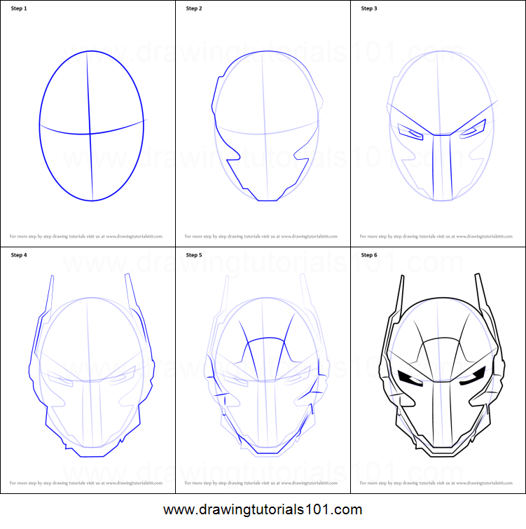 How To Draw Arkham Knight Helmet From Batman Printable