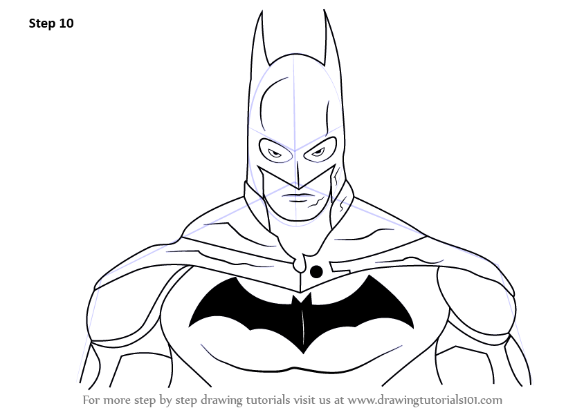 Learn How To Draw Batman Face Batman Step By Step Drawing Tutorials