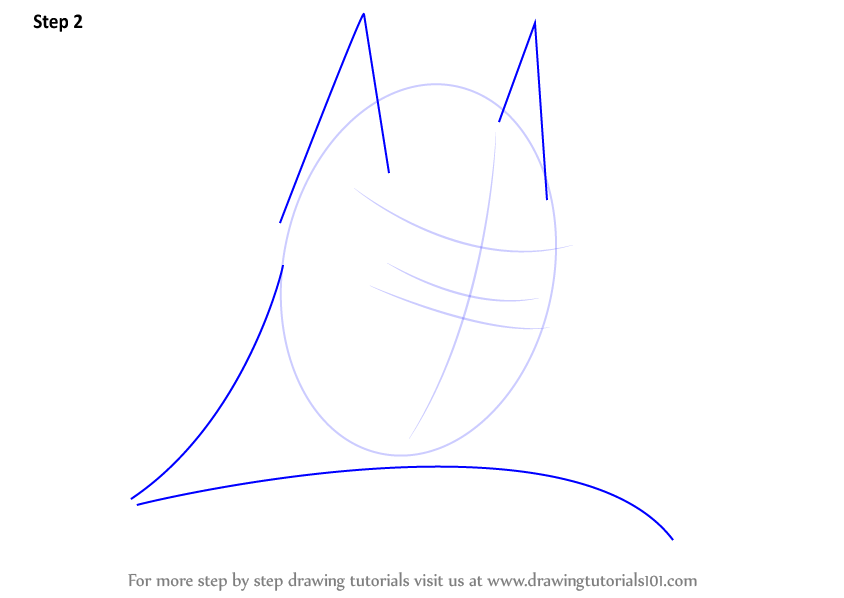 how to draw the batman symbol step by step