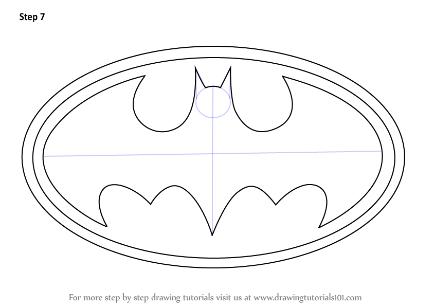 Gallery For gt How To Draw Batman Logo Step By Easy