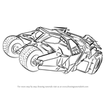 How to Draw Batmobile Dark Knight