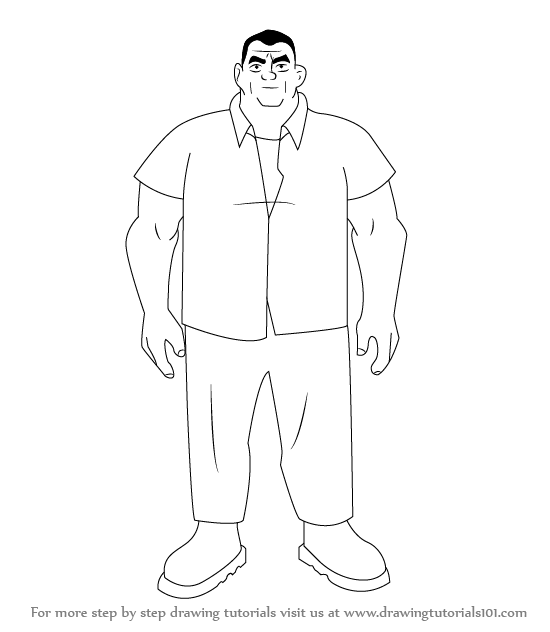 Learn How To Draw Grandpa Max From Ben 10 Ben 10 Step By Step Drawing Tutorials