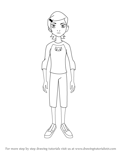 how to draw gwen from ben 10