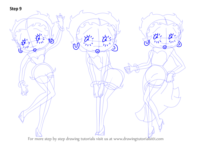 how to draw christmas betty boop