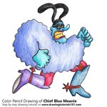 How to Draw Chief Blue Meanie from Blue Meanies