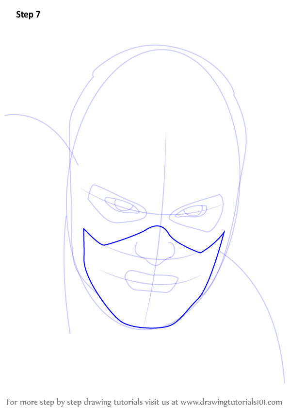 Learn How To Draw Captain America Face (Captain America) Step By Step  Drawing Tutorials