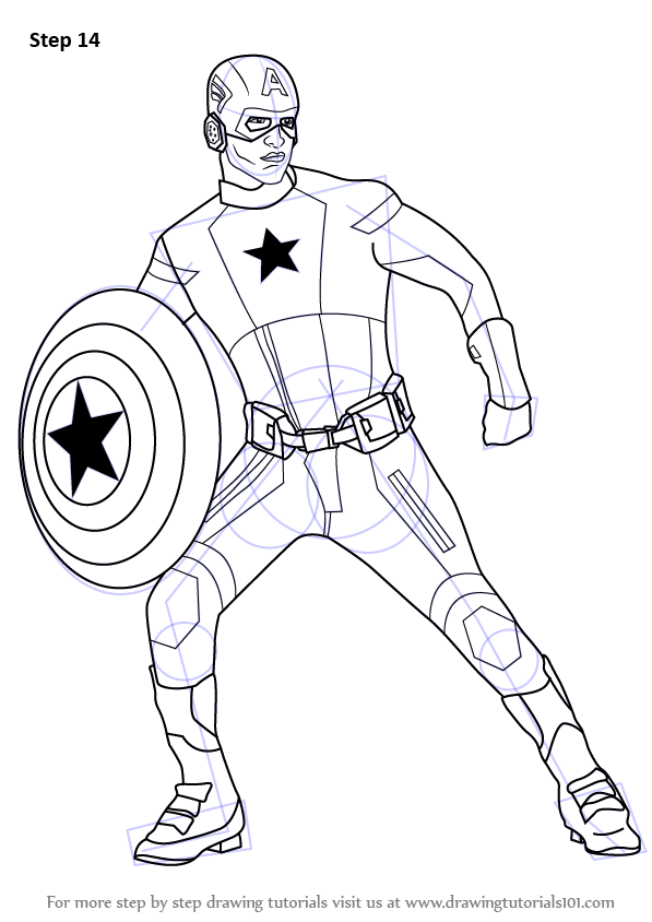 Image Result For Captain America Coloring Pages Kids