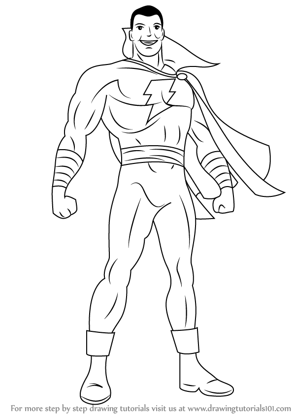 Shazam Coloring Pages Coloring Pages