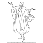 How to Draw Cruella de Vil