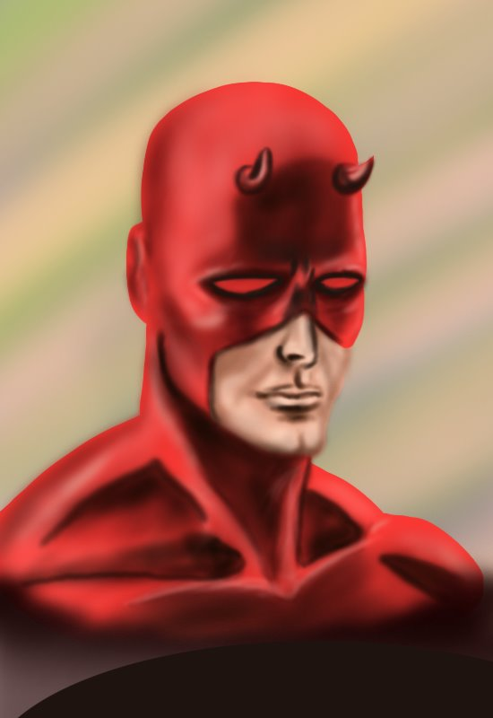 Learn How to Draw Daredevil Face (Daredevil) Step by Step ...
