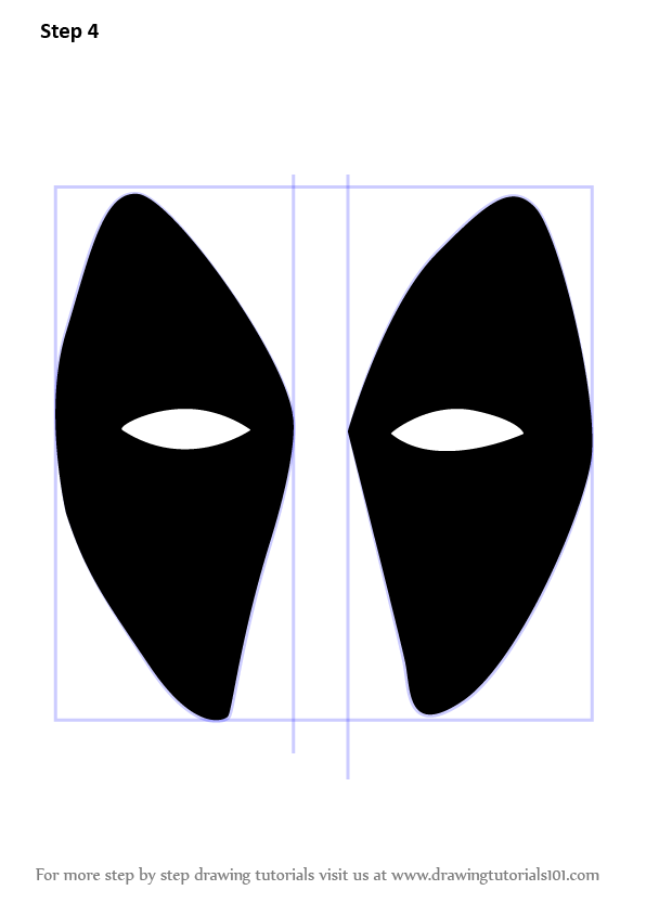 Learn How To Draw Deadpool Mask Deadpool Step By Step