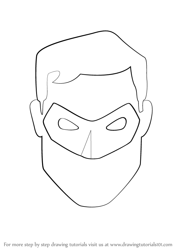 how to draw green lantern face