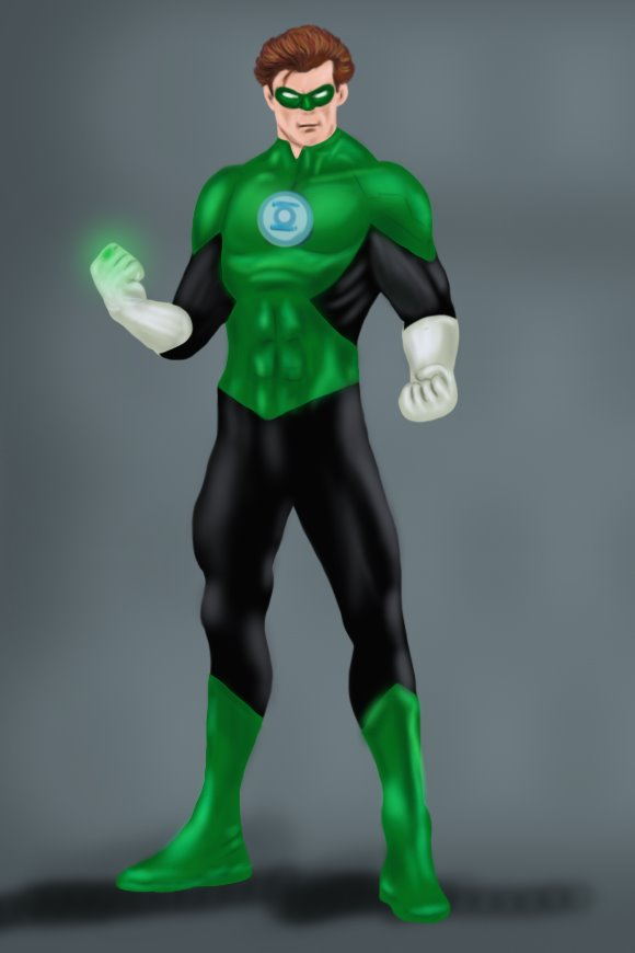 Cartoon Characters Green : Learn how to draw green lantern step by