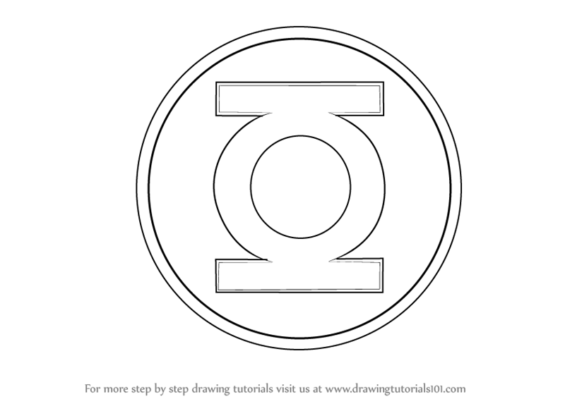 Learn How to Draw Green Lantern Logo (Green Lantern) Step ...