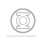 How to Draw Green Lantern Logo