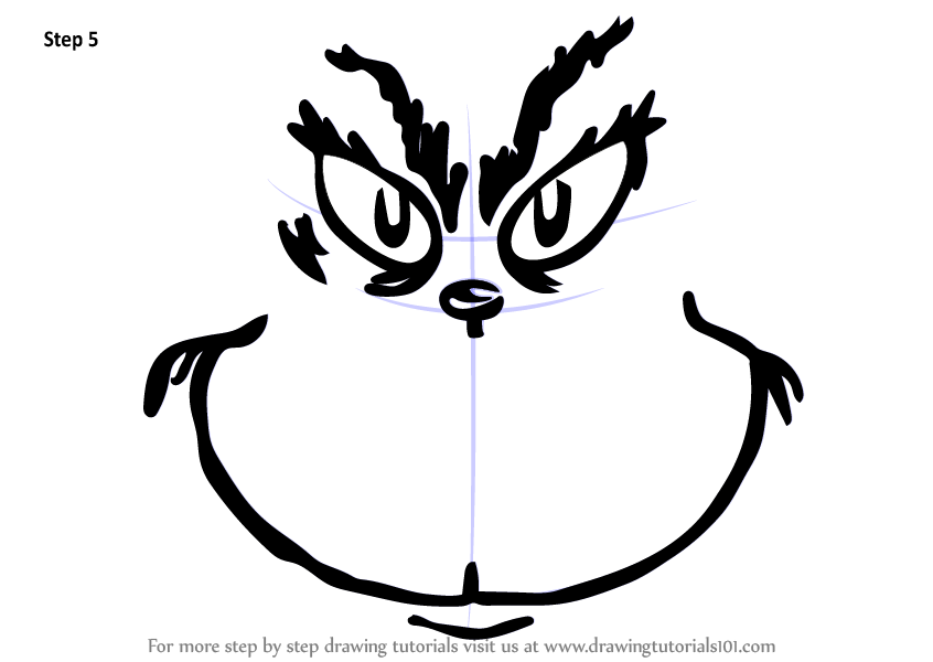 It's just a photo of Breathtaking Free Printable Grinch Face Template