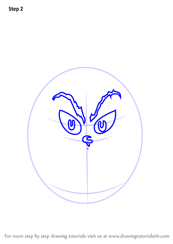 How to draw grinch face