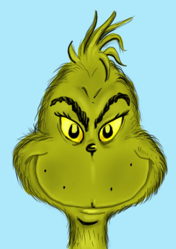 Learn How to Draw The Grinch Face Grinch Step by Step Drawing