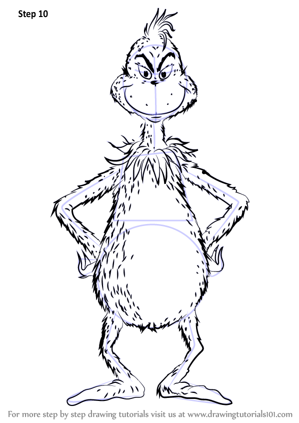 Learn How To Draw The Grinch Grinch Step By Step