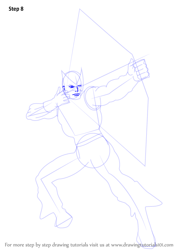 learn how to draw hawkeye  hawkeye  step by step   drawing