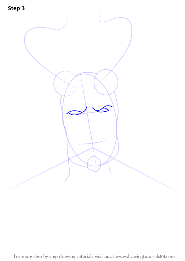 Step By Step How To Draw Hellboy With Horns