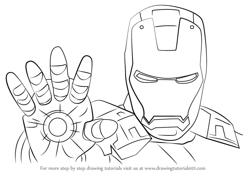 Learn How to Draw Iron Man Face (Iron Man) Step by Step ...