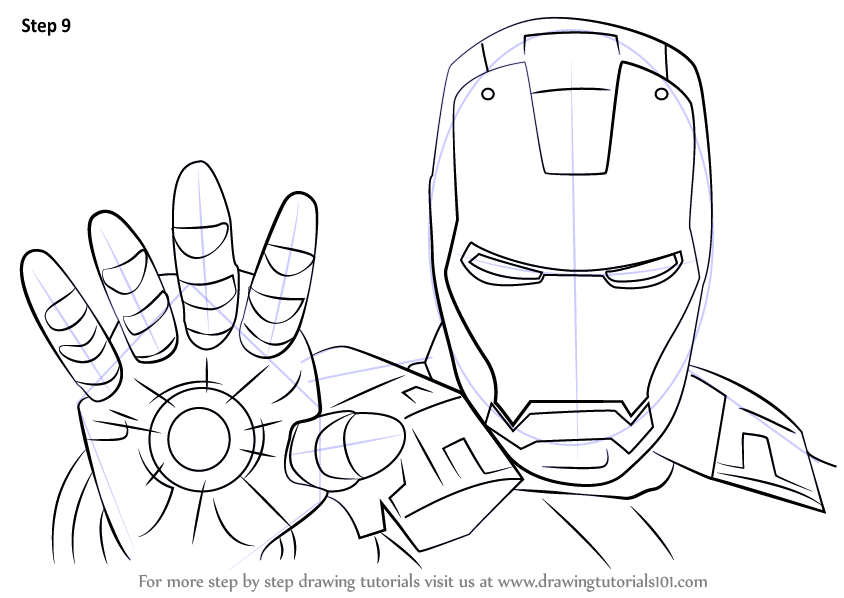 Man S Face Line Drawing : Learn how to draw iron man face step by