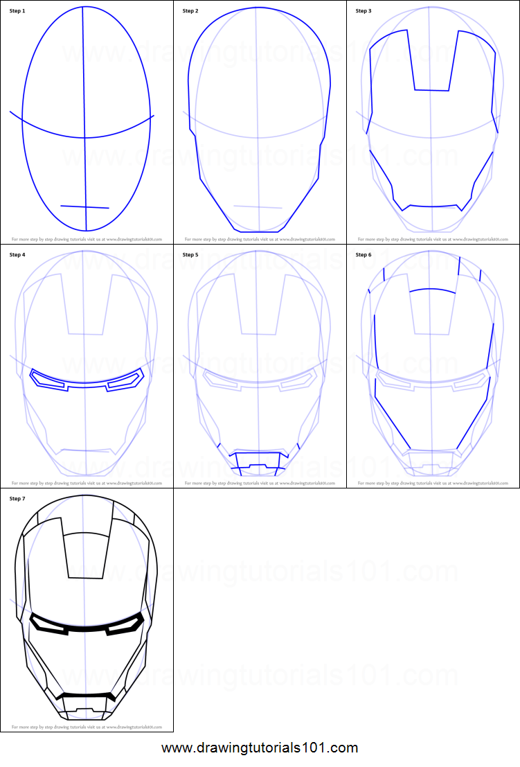 image relating to Iron Man Mask Printable called How toward Attract Iron Mans Helmet printable phase through action drawing