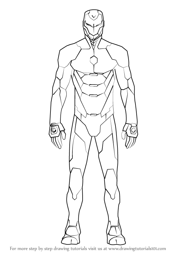 Learn How to Draw Iron Man Suit (Iron Man) Step by Step ...