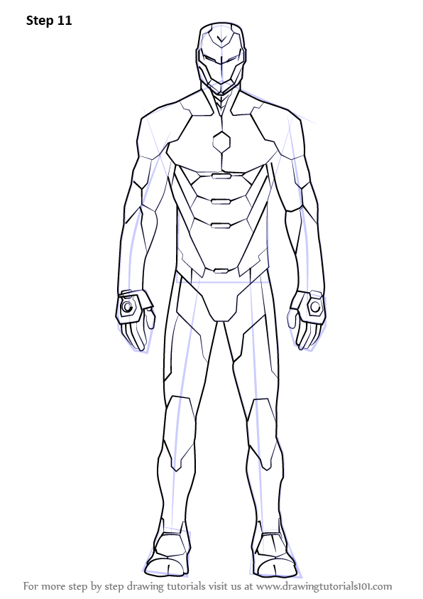 Step By Step How To Draw Iron Man Suit