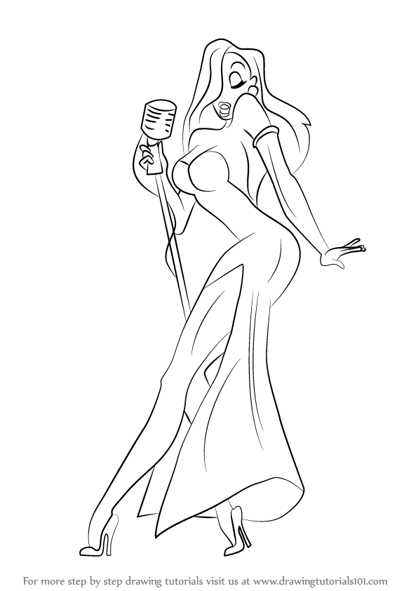 Learn How To Draw Jessica Rabbit Jessica Rabbit Step By Step Drawing Tutorials