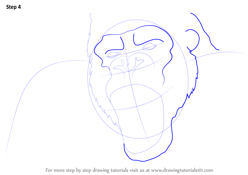 Learn How To Draw King Kong Face King Kong Step By Step Drawing