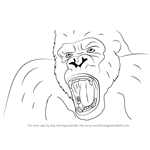 How to Draw King Kong Face