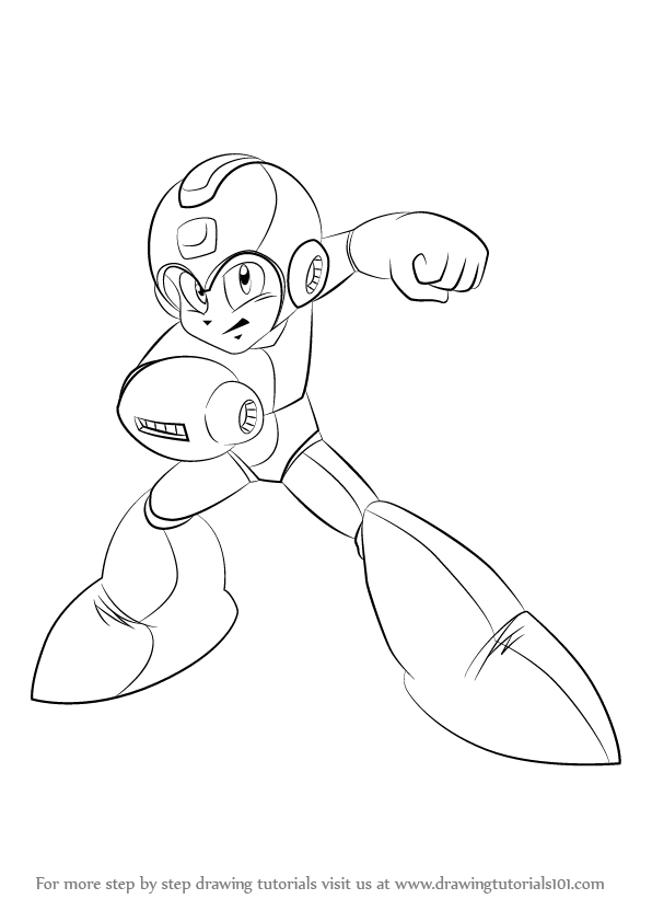 Step By Step How To Draw Mega Man Drawingtutorials101 Com
