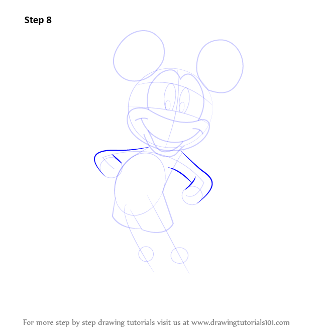 Learn How to Draw Mickey Mouse (Mickey Mouse) Step by Step ...
