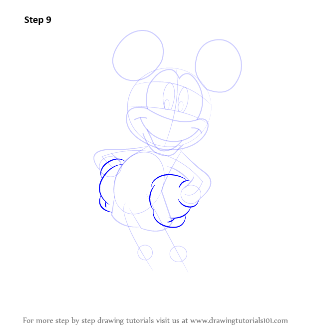 Step 9 draw the hands as shown