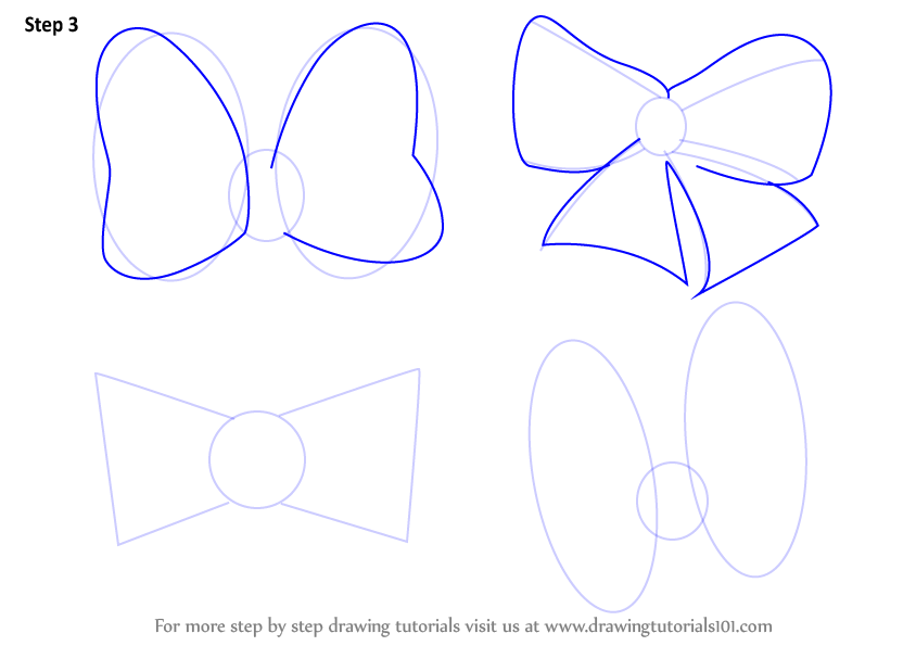 Cute Bows Drawing