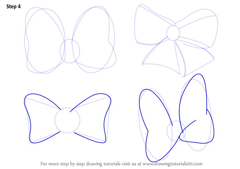 Learn How To Draw Minnie Mouse Bow Tie Minnie Mouse Step