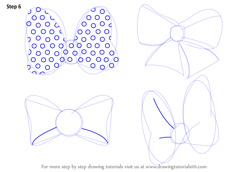 Learn How to Draw Minnie Mouse Bow Tie Minnie Mouse Step by Step