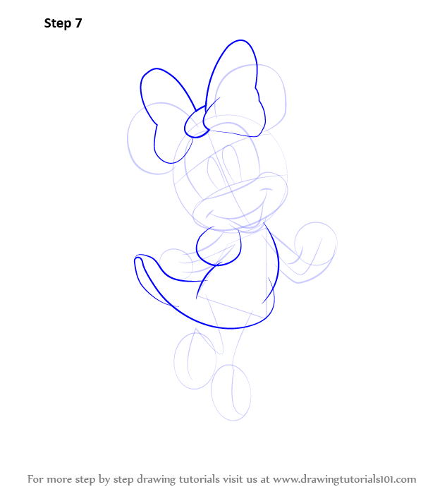 Learn How to Draw Minnie Mouse (Minnie Mouse) Step by Step ...