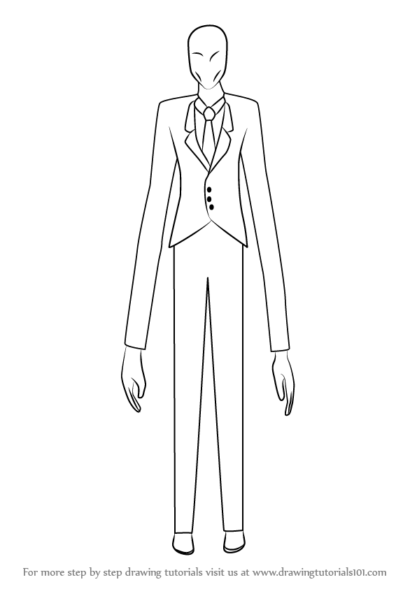 Learn How To Draw Slender Man Slender Man Step By Step
