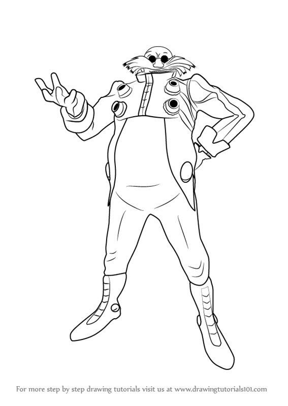 Learn how to draw doctor eggman from sonic the hedgehog for Dr eggman coloring pages