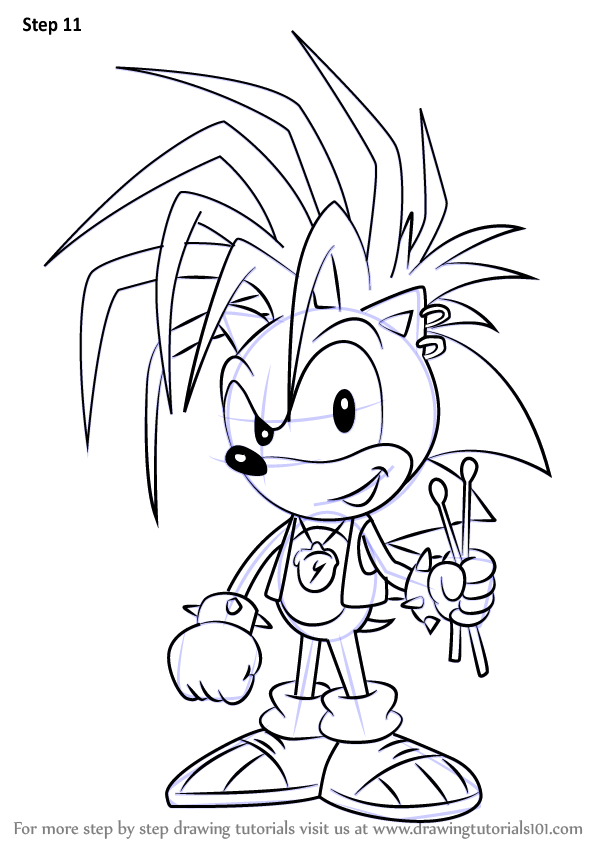 Learn How to Draw Manic the Hedgehog