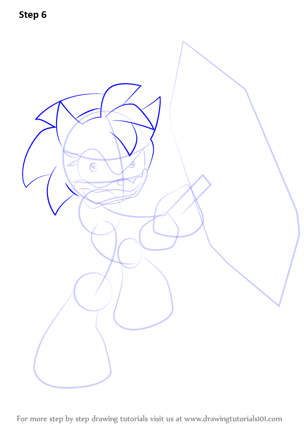how to draw sonic the hedgehog step by step dragoart
