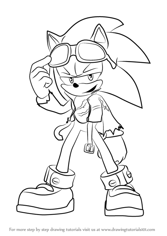 How to draw scourge the hedgehog from sonic the hedgehog