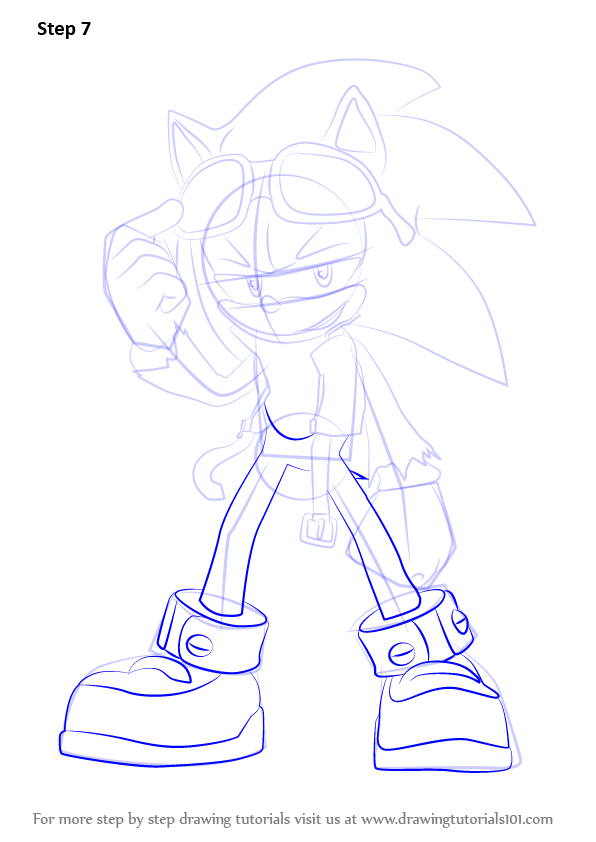 Step By Step How To Draw Scourge The Hedgehog From Sonic