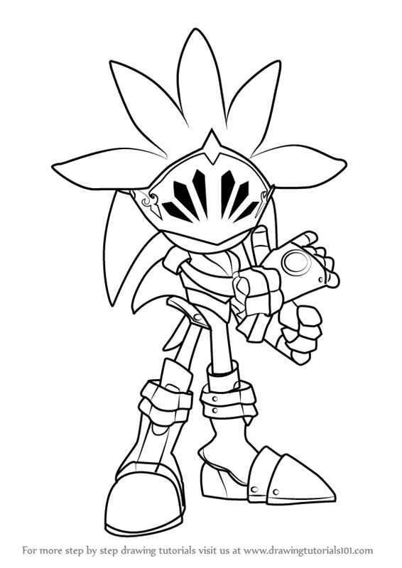 Step by Step How to Draw Sir Galahad from Sonic the Hedgehog : DrawingTutorials101.com
