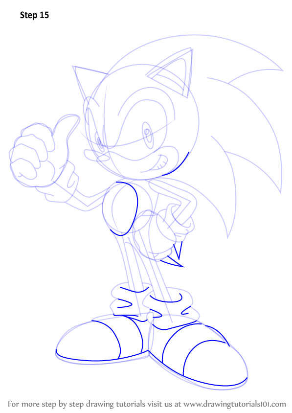 Learn How To Draw Sonic Sonic The Hedgehog Step By Step Drawing Tutorials