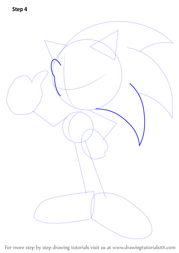 pencil sonic the hedgehog drawing tutorial